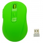 2.4GHz 1480DPI Wireless Optical Mouse w/ USB Receiver - Green