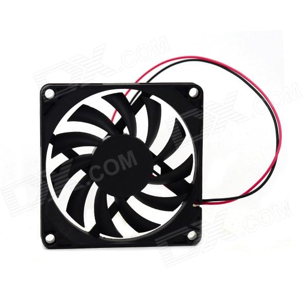 MaiTech DC 12V 0.15A 8 x 8 x 1.1cm Cooling Fan - Black 2pieces lot gdstime ball bearing 40mm 4010b 40x10mm dc 24v 2pin dc cooler cooling fan
