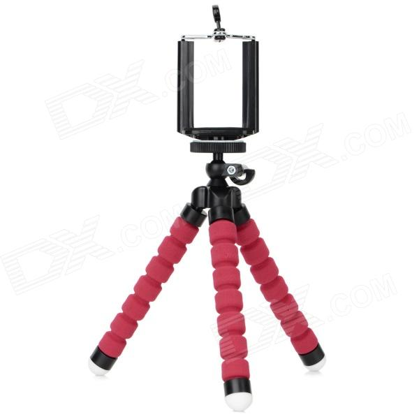все цены на DULISIMAI C003 2-in-1 Adjustable Desktop Tripod for Cellphone / Camera / GPS - Red + Black онлайн