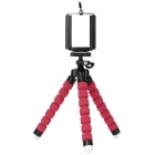 DULISIMAI C003 2-in-1 Adjustable Desktop Tripod for Cellphone / Camera / GPS - Red + Black