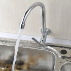 Wall Type 360' Rotatable Chrome-plated Brass Kitchen Sink Faucet