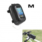 Roswheel Universal Touch Screen Top Tube Saddle Bag w/ Earphone Hole for Cell Phone - Black (M)