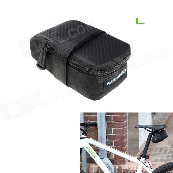 ROSWHEEL 13876lk Bike Bicycle Nylon Saddle Seat Tail Bag - Black (L) roswheel mtb bike bag 10l full waterproof bicycle saddle bag mountain bike rear seat bag cycling tail bag bicycle accessories