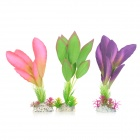 Artificial Imitation Lifelike Water Plants for Aquarium Fish Tank - Pink + Green (3 PCS)