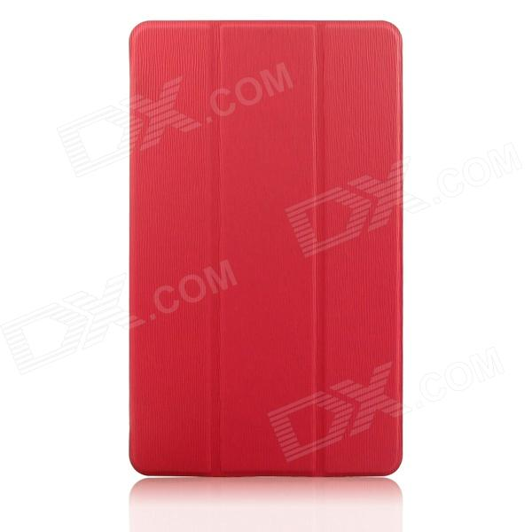 ENKAY 3-Fold Protective Ultra-thin PU Flip Open Case for Samsung Galaxy Tab S 8.4 T700 - Red