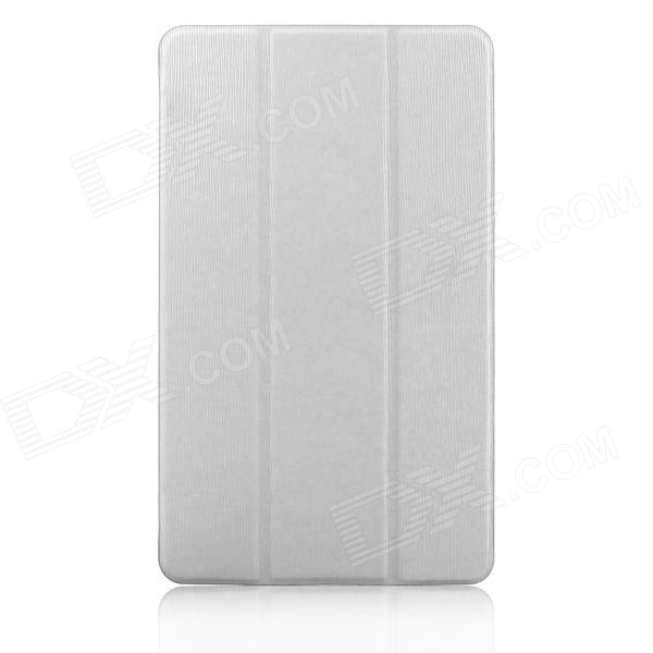 ENKAY 3-Fold Protective Ultra-thin PU Leather Case for Samsung Galaxy Tab S 8.4 T700 - White
