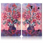 ENKAY Flowers Pattern Protective PU Leather Case for Samsung Galaxy Tab S 8.4 T700 - Multicolor