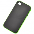 Protective TPU + PC Back Case for IPHONE 4 / 4S - Black + Green