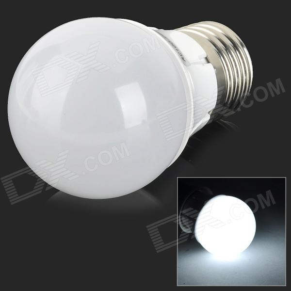 E27 3W 200lm 6000K 16-SMD 2835 LED White Light Bulb - Silver + White (100~250V)