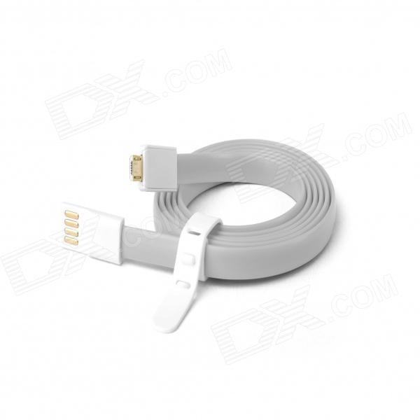 Fonemax Gold Plated Micro USB Data Charging Flat Cable for Samsung -Grey (1.2m)
