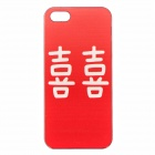 Peking Opera Red Happiness Pattern PC Protective Back Case for IPHONE 5 / 5S - White + Red