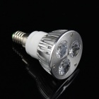 KINFIRE E14-3W E14 3W 240lm 3000K 3-LED Warm White Spotlight - Silver (AC 85~265V)
