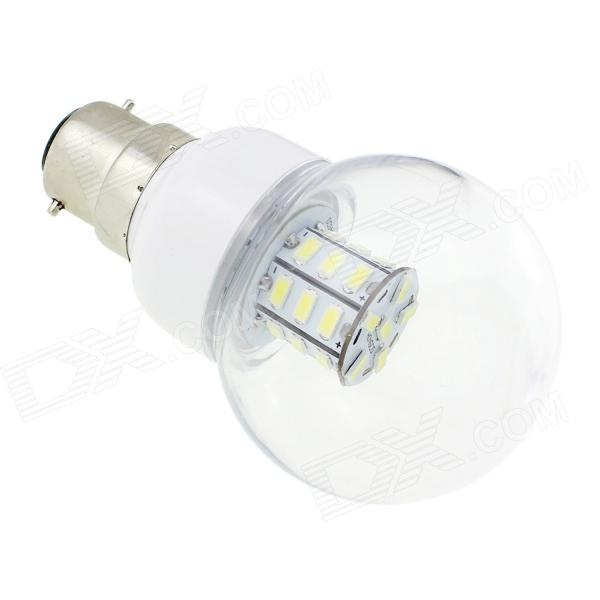 HONSCO B22 4W 220lm 27-SMD 5730 LED Cold White Light Bulb (AC 85~265V)