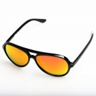 OREKA Retro Red REVO Cellulose Acetate Frame Resin Lens UV400 Protection Sunglasses - Black