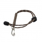 Keychain Style Outdoor Survival Emergency Flashlight Rope - Camouflage Brown