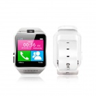 "Otium Gear 1.5"" TFT Smart Watch GSM Phone w/ Pedometer, Sleep Monitoring, 1.3MP Cam - White + Silver"