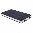 "Ultra-Thin High Capacity Solar ""12500mAh"" Power Bank for IPHONE / IPAD - Black"