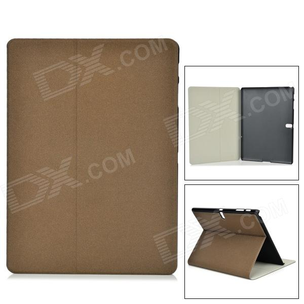 Protective PU + PC Case w/ Stand for Samsung Galaxy Tab S 10.5 T800 - Dark Brown