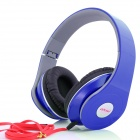 Ditmo 3.5mm Adjustable Foldable Headband Noise Canceling Stereo Headphone - Dark Blue