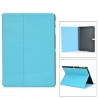 Protective PU + PC Case w/ Stand for Samsung Galaxy Tab S 10.5 T800 - Sky Blue