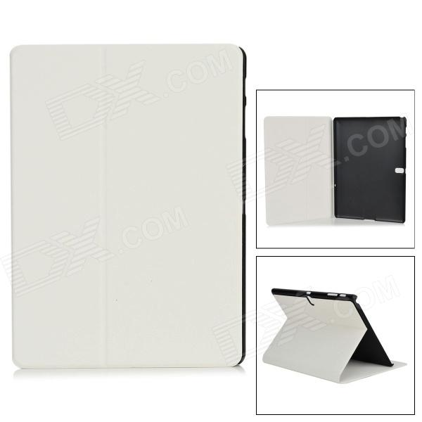 Protective PU + PC Case w/ Stand for Samsung Galaxy Tab S 10.5 T800 - White