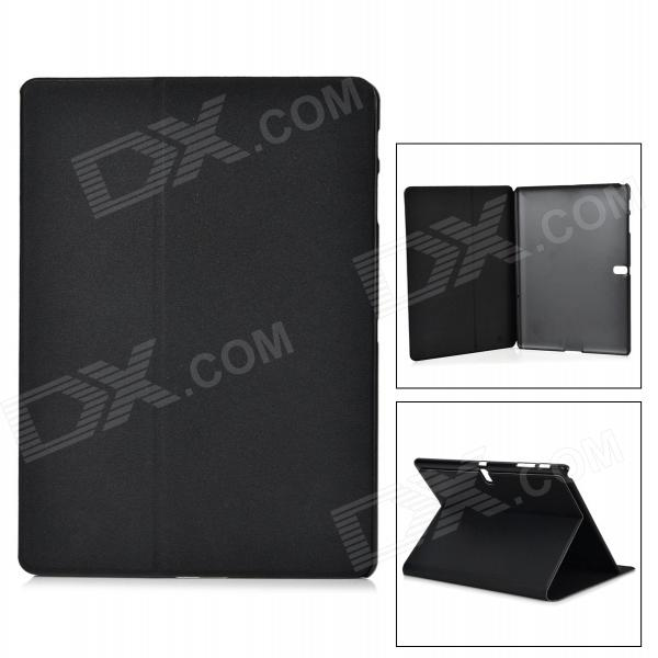 Sand Pattern Protective PU + PC Case w/ Stand for Samsung Galaxy Tab S 10.5 T800 - Black uk flag pattern 360 rotary protective pu case w stand for samsung galaxy tab s 10 5 t800