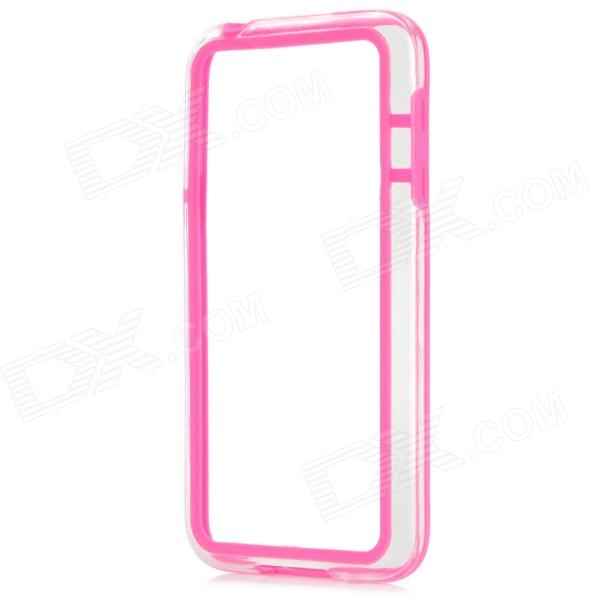 Protective TPU + PC Bumper Frame for Samsung Galaxy S5 Mini - Deep Pink protective tpu   pc bumper frame for lg