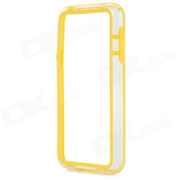 Protective TPU + PC Bumper Frame for Samsung Galaxy S5 Mini - Yellow protective tpu pc bumper frame for samsung galaxy s5 mini green