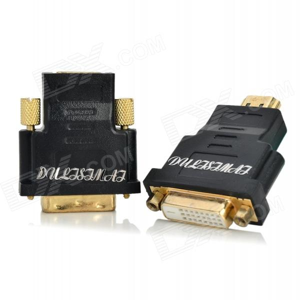 2-in-1 HDMI Male to DVI Female + HDMI Female to DVI Male Adapter - Black + GoldenOther Consumer Electronics<br>Suitable for HDTV / Xbox 360 / PS3 / Blue DVD etc.<br>