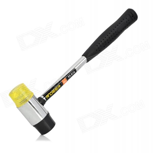 R'DEER 55-816 Rubber + Steel Hammer - Black + Silver a080877 noritsu qss3301 minilab roller substitute made of rubber