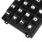 16-Key 4 x 4 Matrix Keyboard / Keypad for Door Bell + More - Black (2 PCS)
