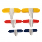 Jiahui B080 Steel Padlock Pick Shims Tool Set - Blue + Red + Yellow (6 PCS)