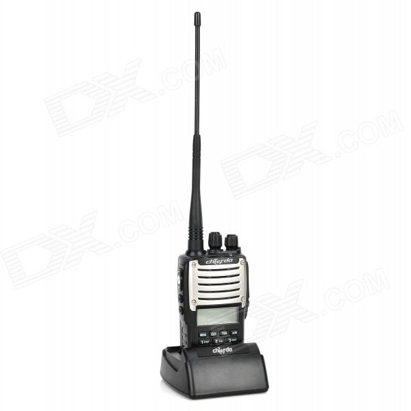 "Chierda UV55 1.6"" LCD Dual Band 128-CH Walkie Talkie - Black"
