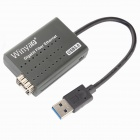 Winyao USB1000F Ethernet LAN-Realtek RTL8153 USB 3.0 Gigabit Fiber Network Card - Black