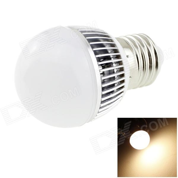 HONSCO E27 3W 220lm 3000K 6-SMD 5730 LED Warm White Bulb - White + Silver (AC 85~265V) 5pcs e27 led bulb 2w 4w 6w vintage cold white warm white edison lamp g45 led filament decorative bulb ac 220v 240v