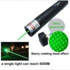 JD851 High Power Green Beam 5mW 532nm Laser Pointer Pen - Black (1 x 16340)