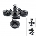 JUSTONE 3-Suction Cup Holder Mount for SJ4000 / GoPro Hero3 / 3+ / Sony AS15 / AS30 - Black