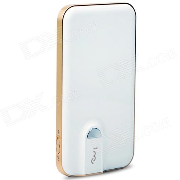 iMu M6 Mobile 5000mAh makt Bank med Wi-Fi for IPHONE / Samsung / tavle-PC - hvit + gull