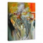 "Iarts AHA072929 Hand-painted ""Abstract Nudity"" Oil Painting - Red (60 x 40cm)"