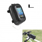 Roswheel Universal Touch Screen Top Tube Saddle Bag w/ Earphone Hole for Cell Phone - Black (L)