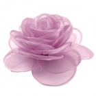 eQute Elegant Fashionable Solid Rose Flower Headdress Hair Clips / Corsage - Purple