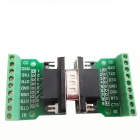 HF 9Pin 3.81 Block Terminal DB9 Connector Module Set - Green
