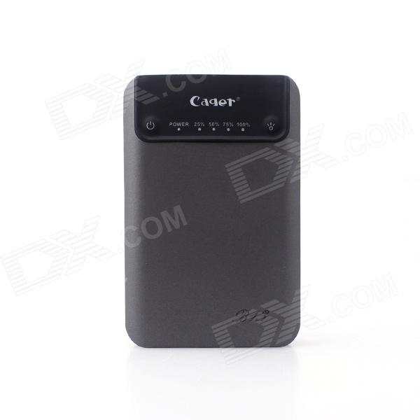 Cager B13 Portable 5V 7200mAh Li-ion Battery Power Bank for IPHONE / Smart Phones - Grey + Black cager wp11 high capacity 5600mah portable outdoor waterproof mobile power black orange