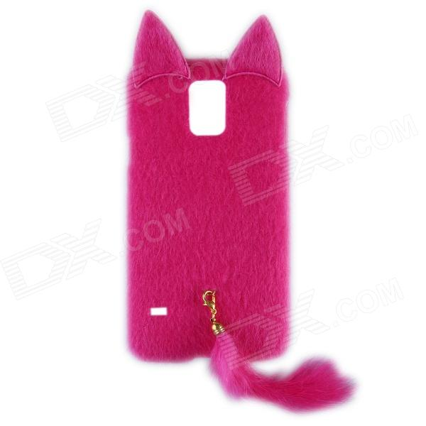 Fashion Plush Mink Style Protective PC Case with Tail for Samsung Galaxy S5 - Deep PinkPlastic Cases<br>This is the most fashionable case latest released in 2014. Fashion cute elegant and sexy cute and lovely. Different people choose it because of different reasons. Just take it try it. A good companion for you beloved phone!<br>