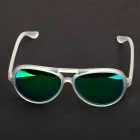 OREKA Retro Green REVO Cellulose Acetate Frame Resin Lens UV400 Protection Sunglasses - Transparent