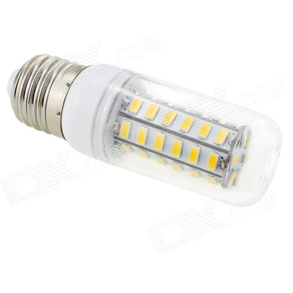 HONSCO E27 6W 350lm 3000K 48-SMD 5730 LED Warm White Corn Lamp - White + Silver (AC 220V)