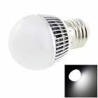 HONSCO E27 3W 220lm 6500K 6-SMD 5730 LED Cool White Light Bulb - White + Silver (AC 85~265V)