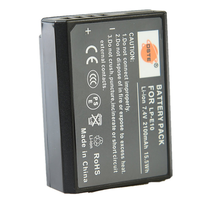 DSTE LP-E10 LPE10 Replacement Battery + Charger for Canon EOS X50 1100D Camera dste bp88b аккумулятор для samsung mv900 mv900f цифровая камера