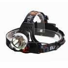 BORUIT RJ-1188A 3-Mode White Bicycle Lamp Headlight w/ Cree XM-L T6 - Black (4 x 18650)