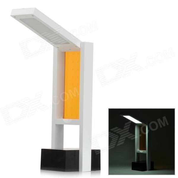 HOME JBS-T200 2W 60lm 6000K 18-LED White Light USB Block Desk Lamp - White + Orange (5V)